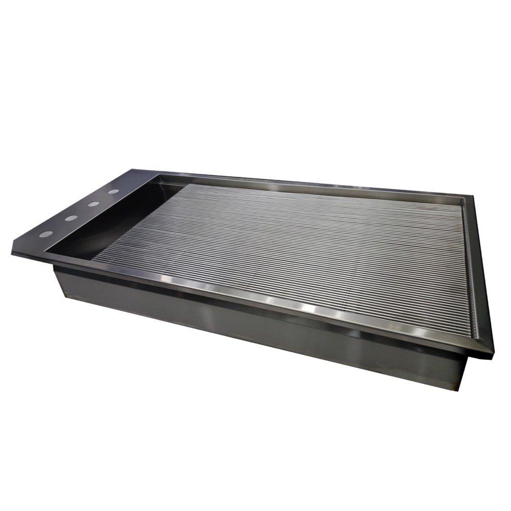 Vetline Stainless Steel 60 Inch Prep Rack Petlift Tubs