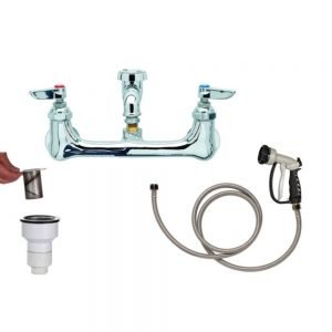 PetLift Deluxe Faucet Package 8 Inch Centers Wide Mouth Interceptor